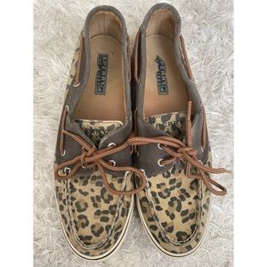 Cheetah sperry top sider loafer boat shoes